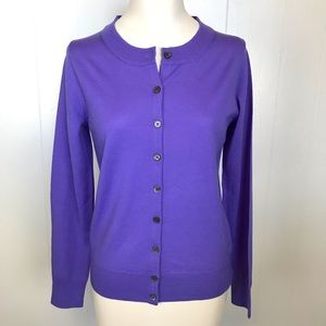 J. Crew Merino Wool Tippi Sweater NWT Purple Sz S